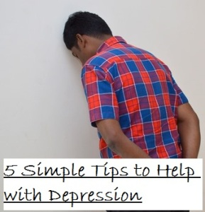 clickable image of depressed man - link to free report 5 Simple Tips to Help with Depression