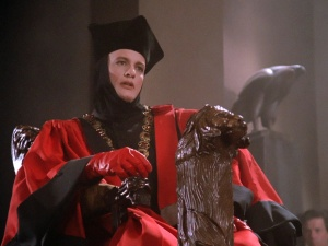 Image of Q (John De Lancie) in Inquisitor garb