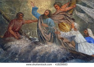 image of Jesus calming the sea