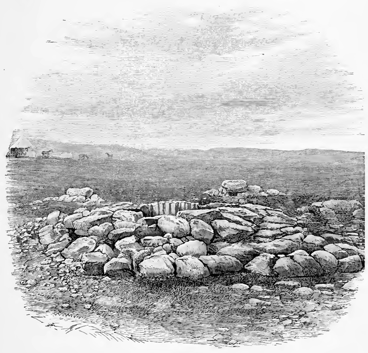 Artist's rendersing of Abraham's Well, 1855
