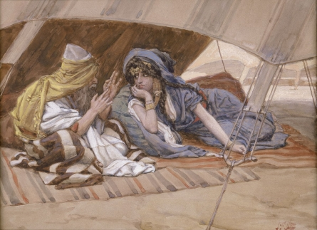 Abram's Counsel to Sarai by Tissot