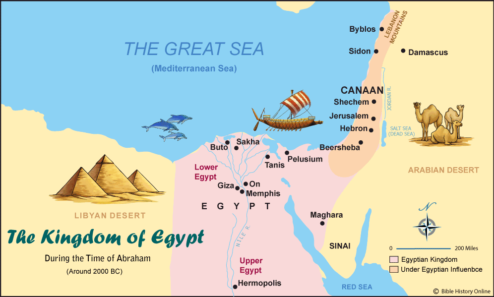 map of ancient Egypt and Middle East