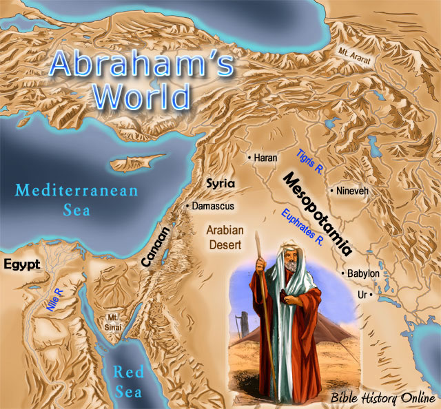 map of Abraham's world