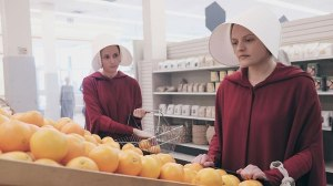 Handmaid's Tale, Offred and Offglen shopping in the Loaves and Fishes grocery store