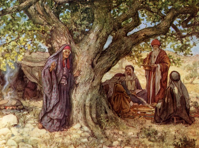 Sarah overhears three angels promise her a son