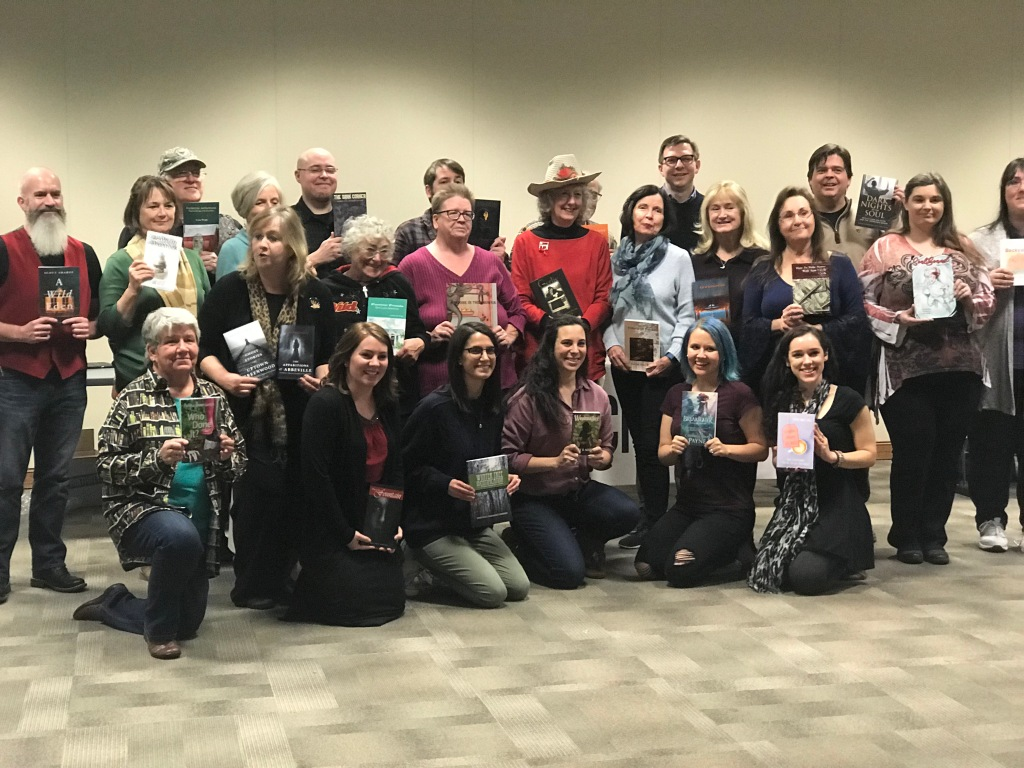 Authors, book crafters, and publishers at the fair