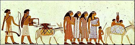 Egyptian art depicting Semites coming to Egypt