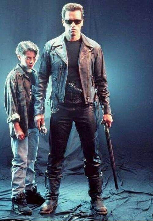 Edoard Furlong and Arnold Schwarzenegger from Terminator 2