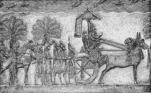 Bas-relief of Assyrian king Sennacherib