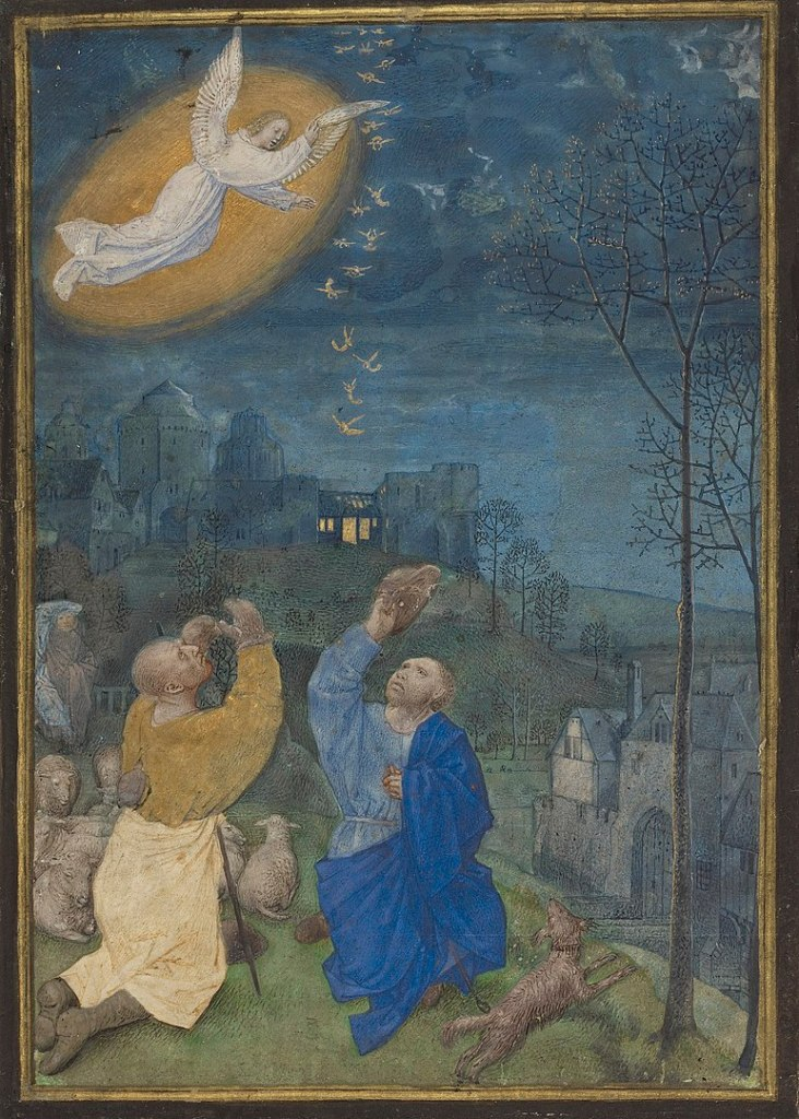 Emerson White Hours's depiction of the annunciation to the shepherds